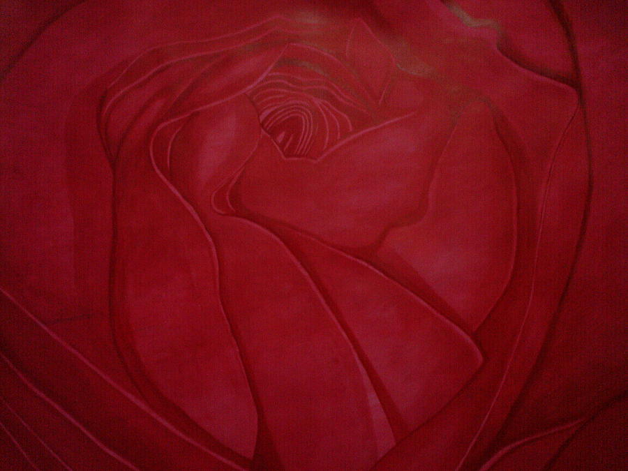 Rose Abstract Painting by Vinay Kumar