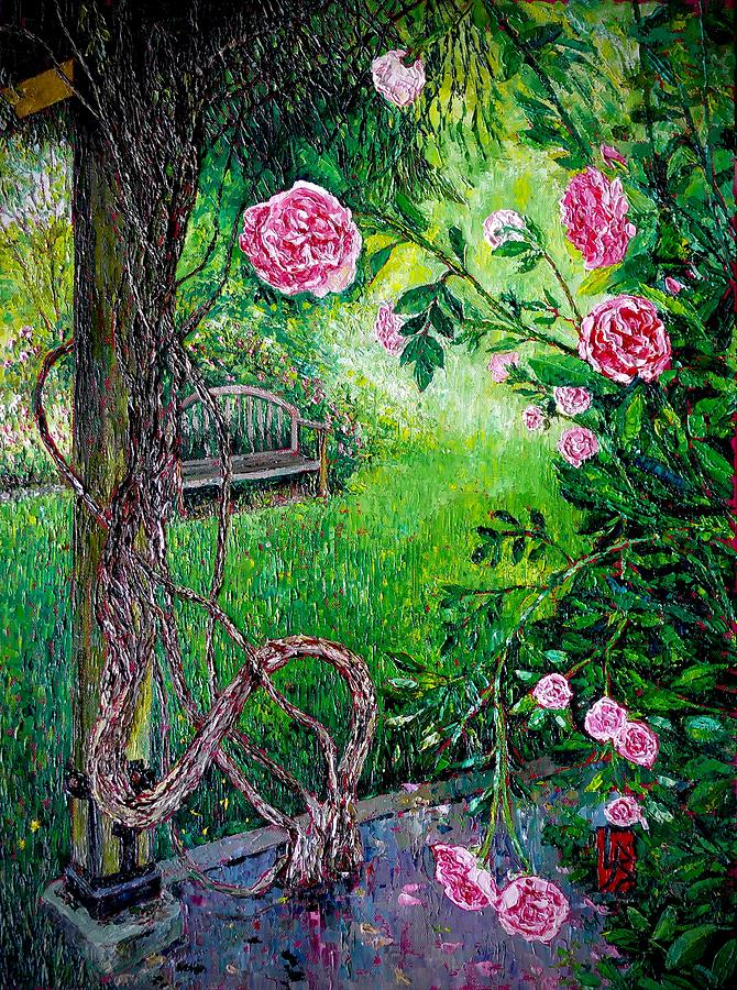 Rose and Vine by Linda J Bean