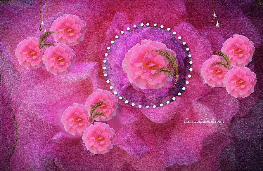 Holy Spirit Digital Art - Rose Art A Rose Is Given With Love by Sherris - Of Palm Springs