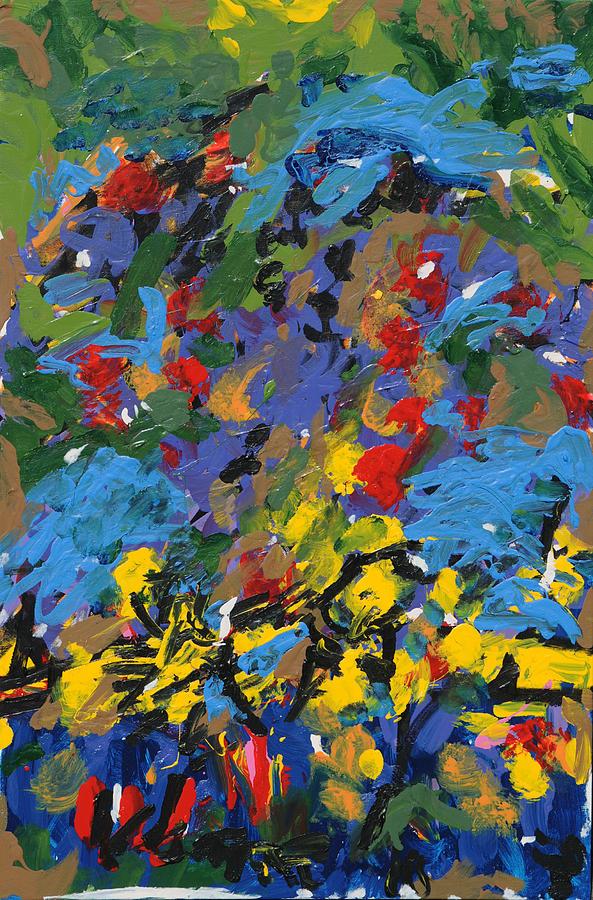Paintings Painting - Rose B. Bush by Wayne Salvatore