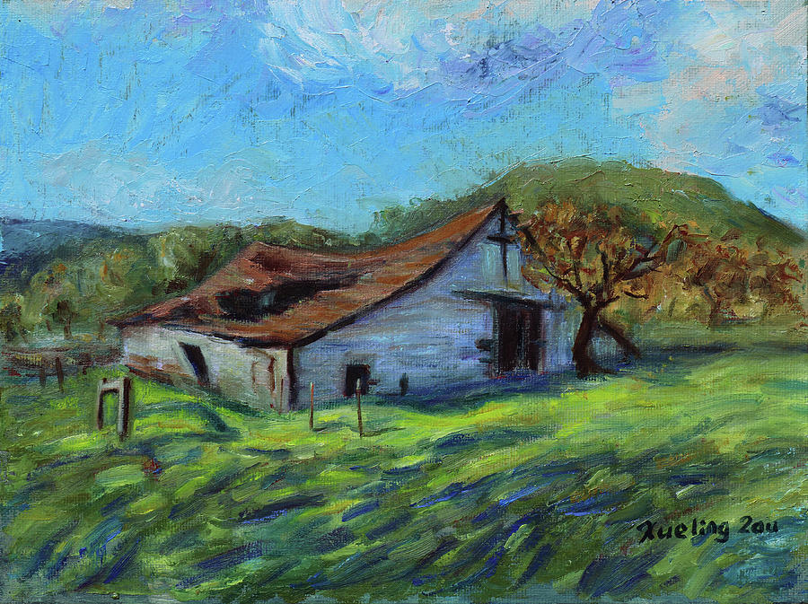 Rose Barn Margan Hill California Landscape 12 by Xueling Zou