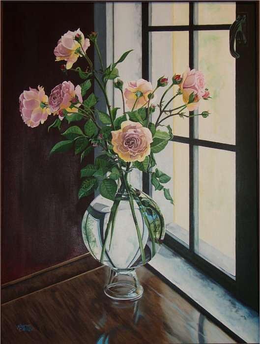 Rose bouquet Painting by Nanette Carton
