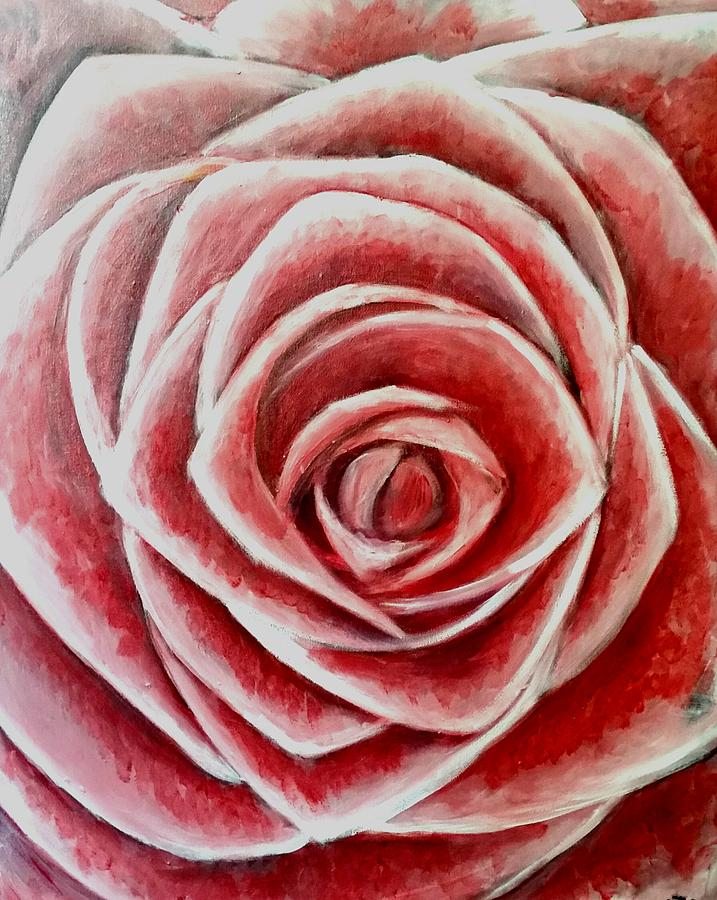 Flowers Painting - Rose by Carole Hutchison