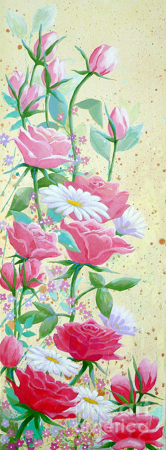 Rose Painting - Rose Diptych 1 by Julia Underwood