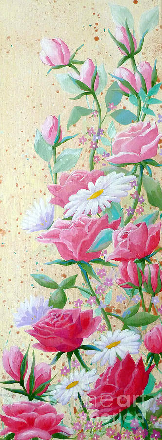 Rose Painting - Rose Diptych 2  by Julia Underwood