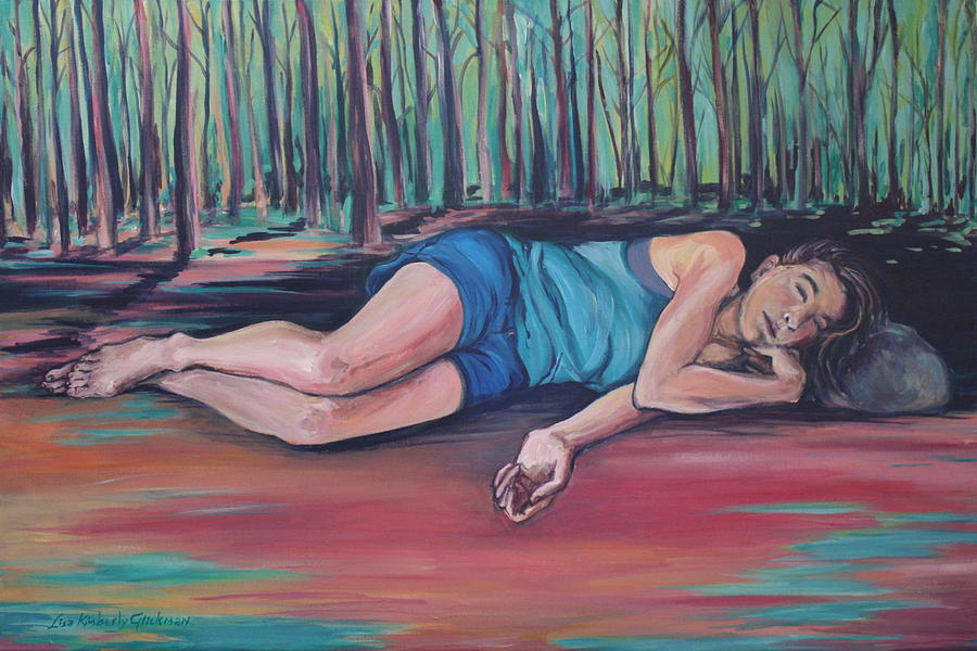 Girl Painting - Rose Dreaming by Lisa Kimberly Glickman