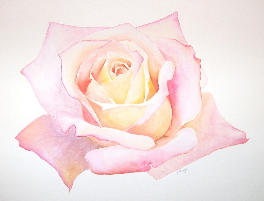 Realism Painting - Rose by Emily Page