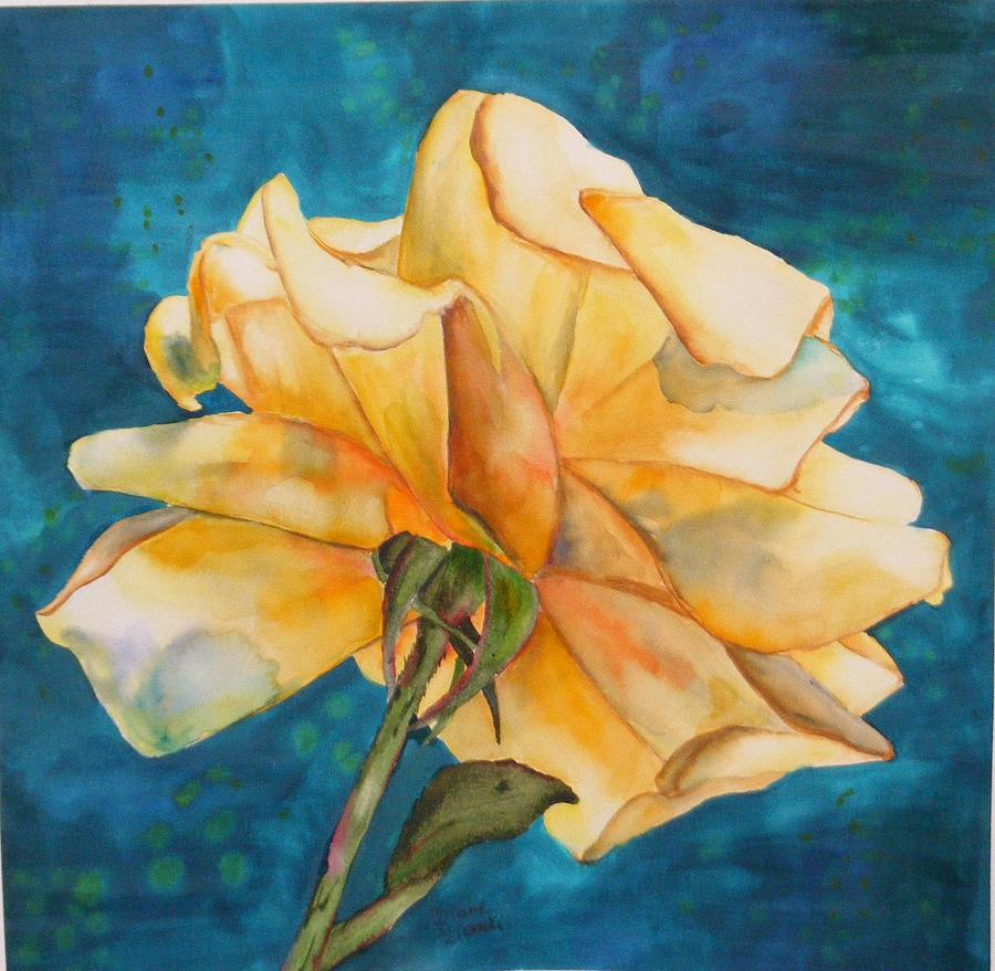 Floral Painting - Rose from behind by Diane Ziemski