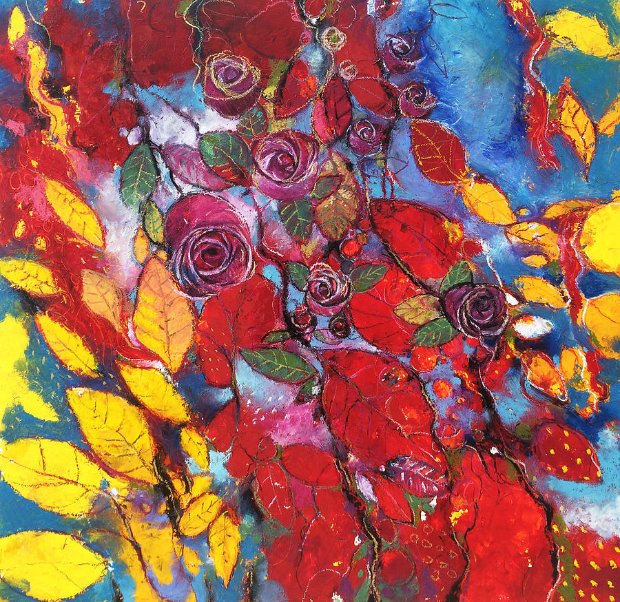 Roses Painting - Rose garden by Alessandro Andreuccetti