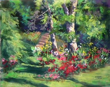 Rose Garden Painting by Barbara Elmslie