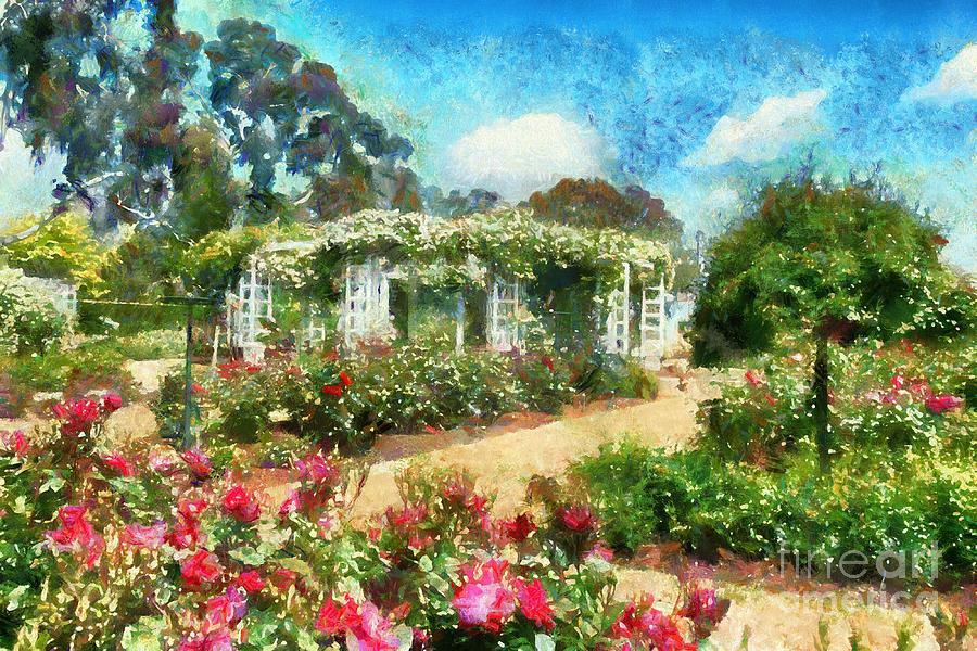 Rose Garden by Fran Woods