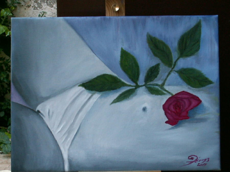 Rose Painting by George Lenis
