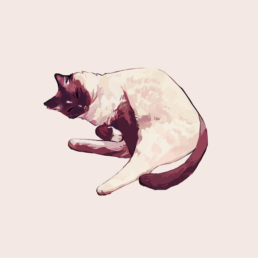 Cat Digital Art - Rose Gold by Ellan Suder