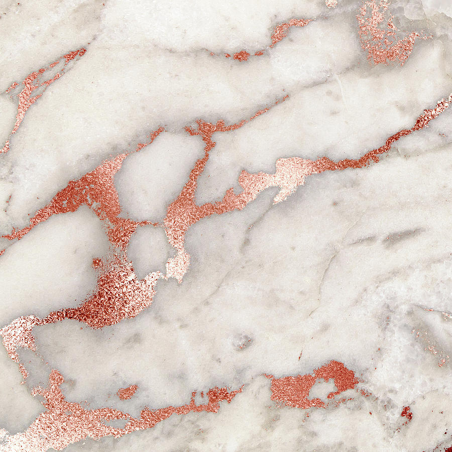 Rose Gold Marble 5 Digital Art By Suzanne Carter