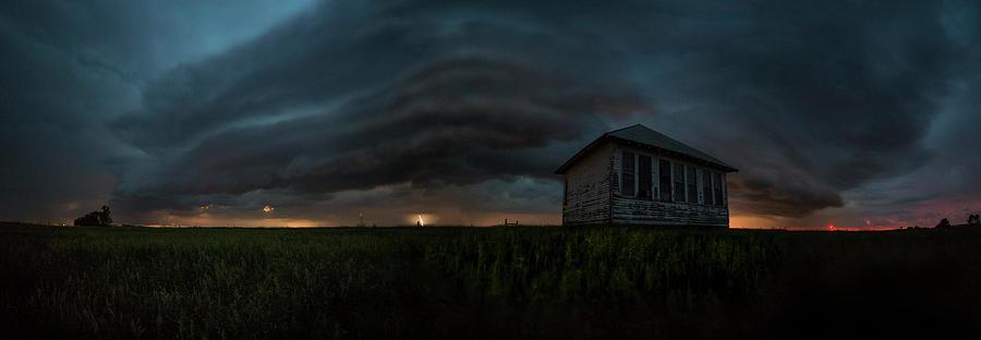 Shelf Cloud Photograph - Rose Hill Storm  by Aaron J Groen