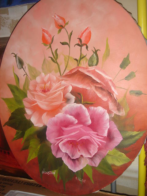 Rose Painting by Houston Prior