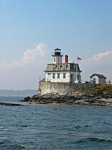 Lighthouse Photograph - Rose Island by Tara Corbett