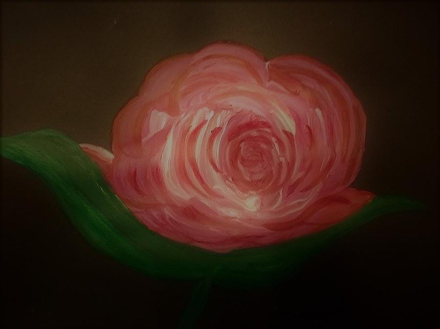 Red Rose Painting - Rose by Lynette Fekete