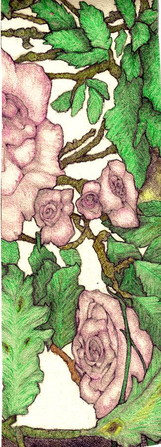 Rose Painting - Rose Panel No 2 by Edward Ruth
