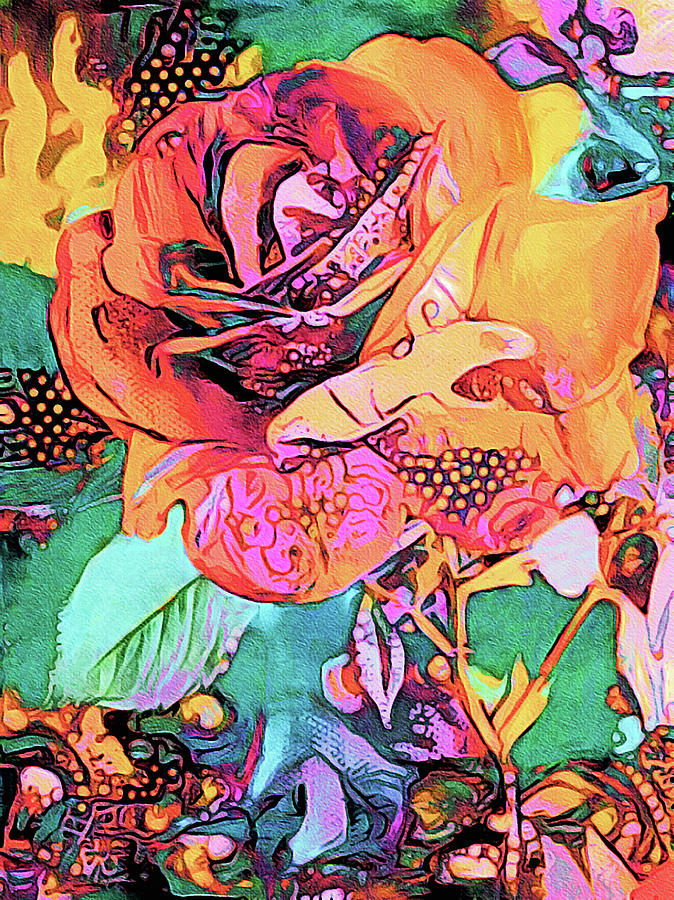 Rose Psychedelia Painting