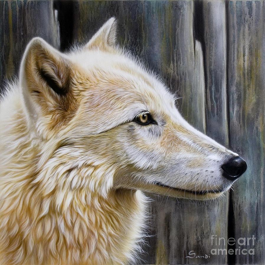 Wolves Painting - Rose by Sandi Baker