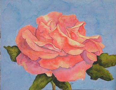 Rose Painting - Rose Side View  by Diane Ziemski