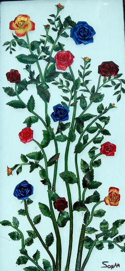 Rose Painting by Sonam Shine