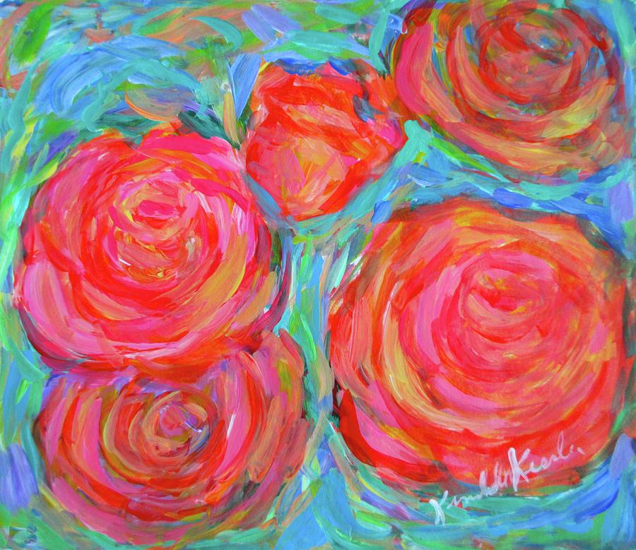 Rose Painting - Rose Spin by Kendall Kessler