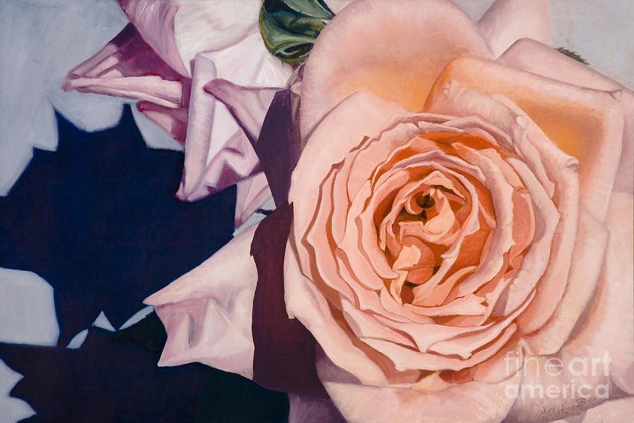 Roses Painting - Rose Splendour by Kerryn Madsen-Pietsch