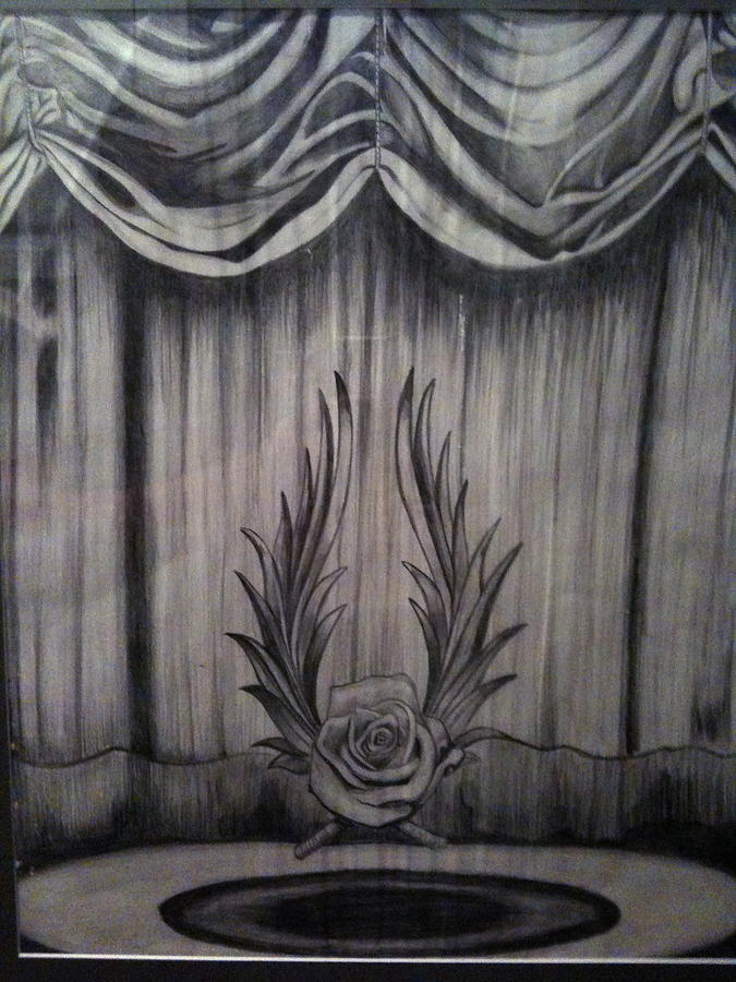 Rose Theatre Drawing By Jenny Abshier
