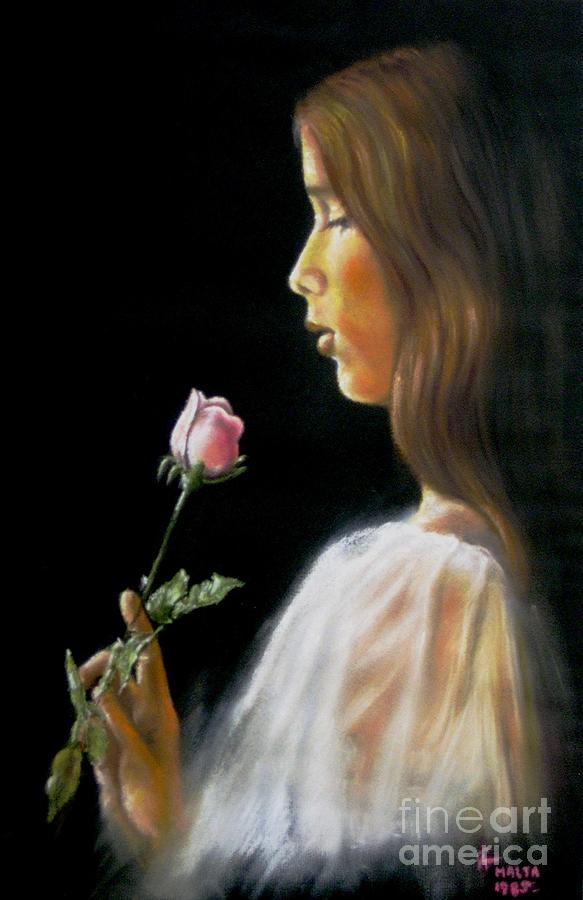 Rose Pastel by Tony Calleja