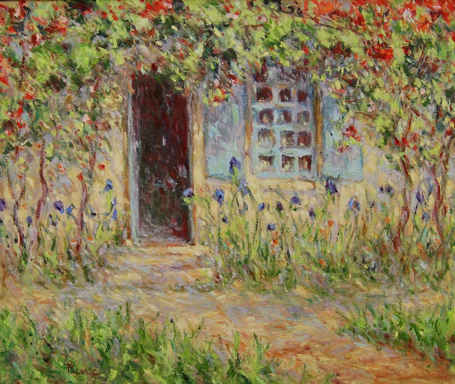 Rose trees at the front of the house by Pierre Van Dijk