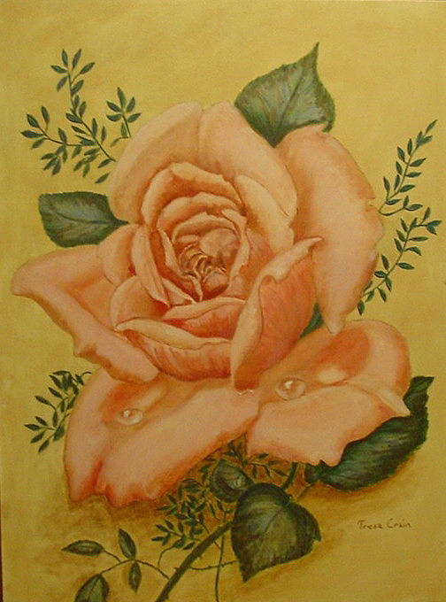Rose Painting - Rose by Tresa Crain
