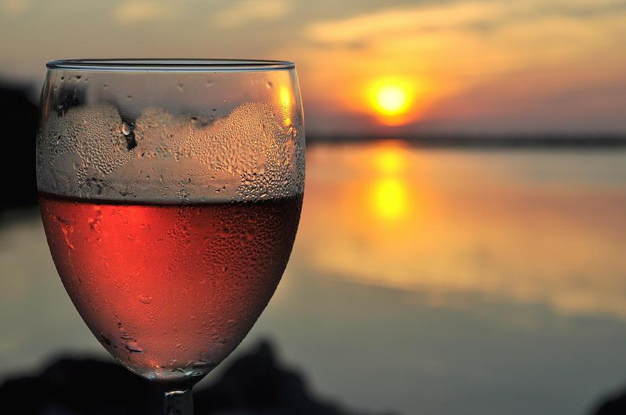Rose Wine   Key Largo Sunset   Life Is Good Photograph by Jonathan Galente
