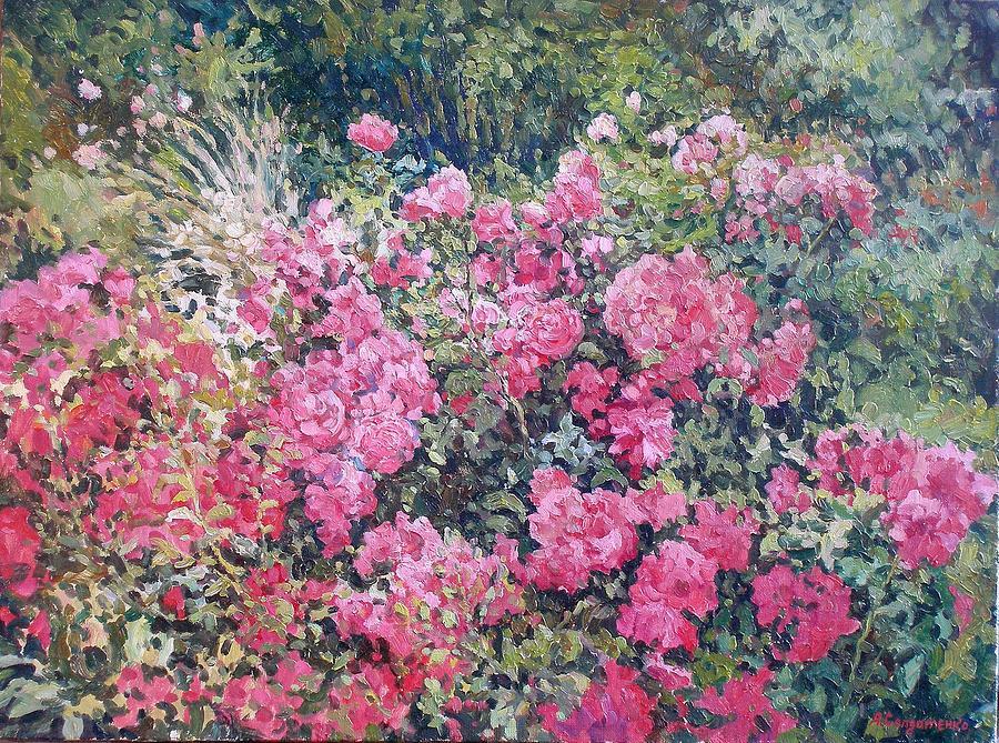 Landscape Painting - Rosebush by Andrey Soldatenko