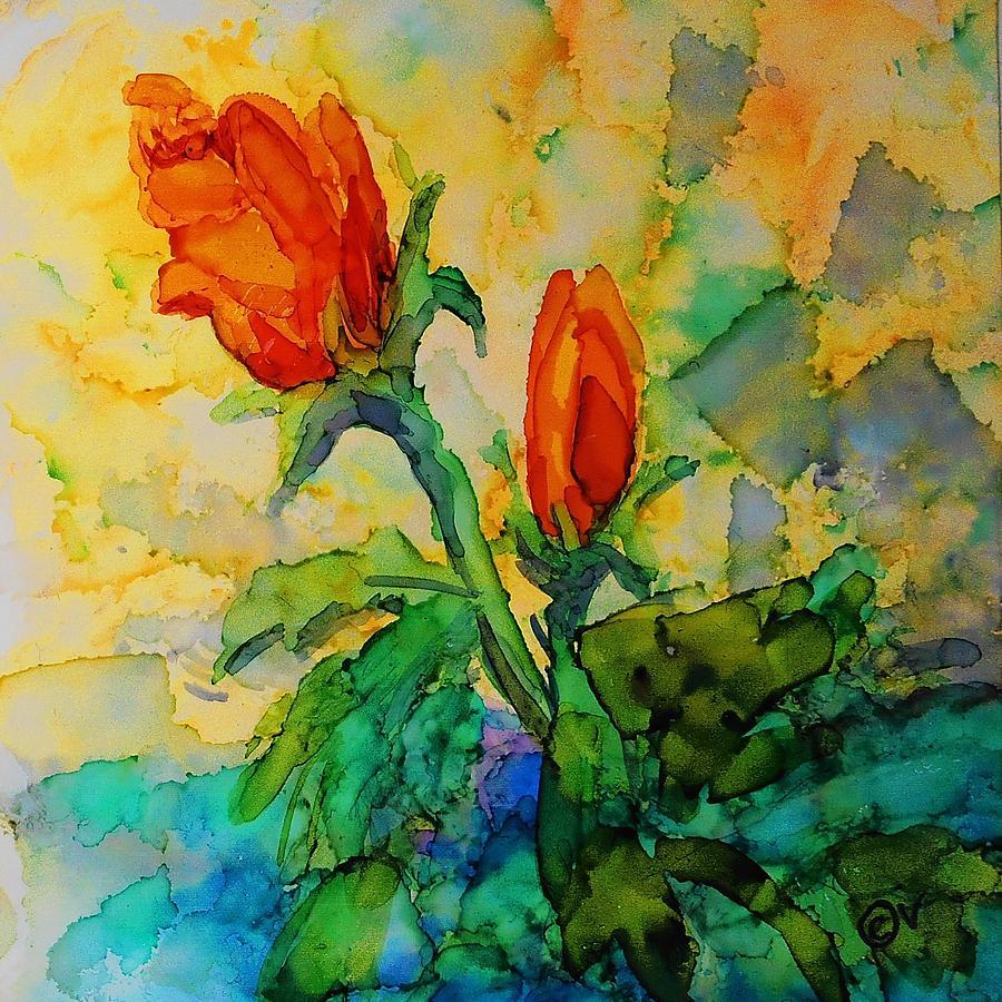 Roses - 246 by Catherine Van Der Woerd