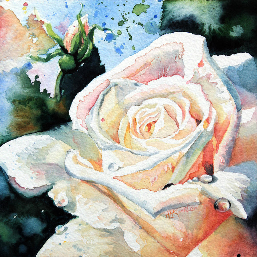 White Rose Painting - Roses 6 by Hanne Lore Koehler