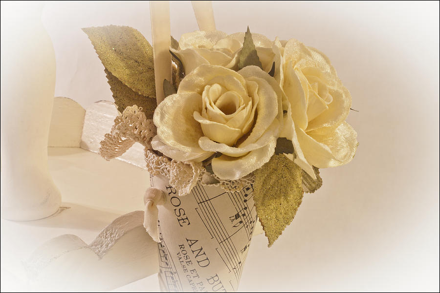 Rose Photograph - Roses And Butterfly Posy  by Sandra Foster