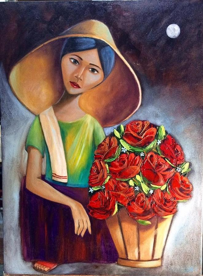 Roses Are Ref Painting by Khristina Manansala