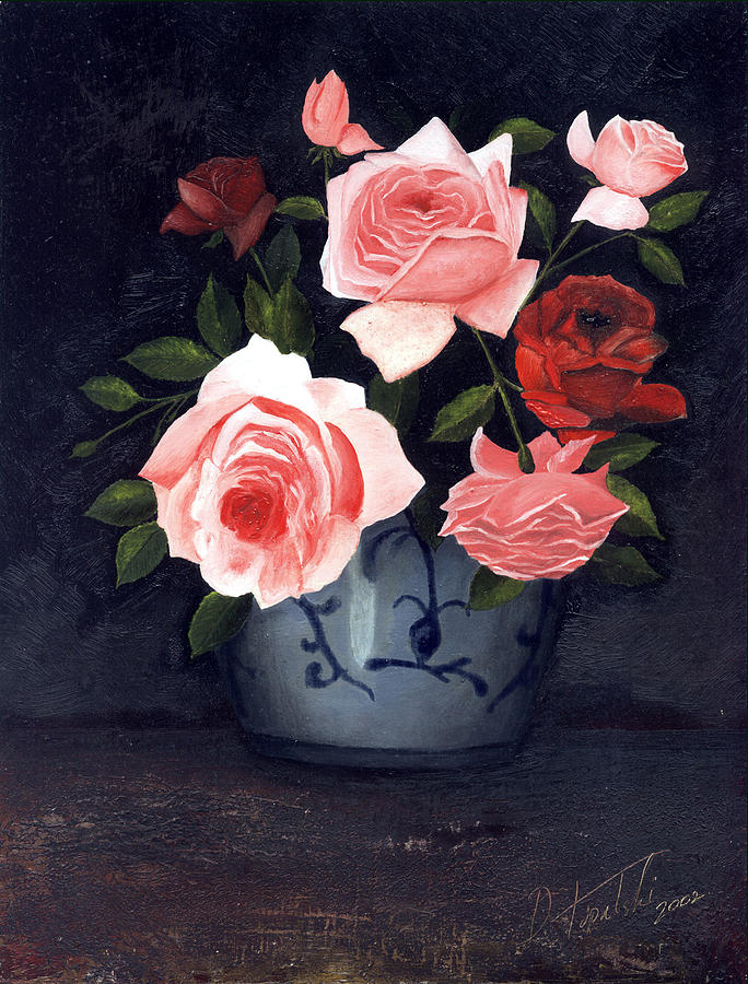 Roses Painting - Roses by Darko Topalski