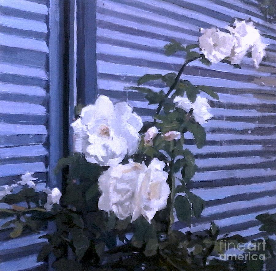 Rose Painting - Roses De Lignes Bleues by Lynn Grayson