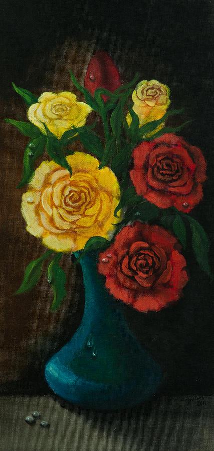 Rose Painting - Roses by Elizabeth Mundaden
