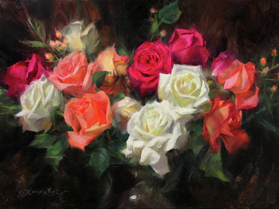 Roses Painting - Roses For Kim by Anna Rose Bain