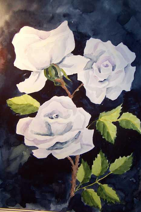 Roses For Mom Painting by Vivian Esler Trout