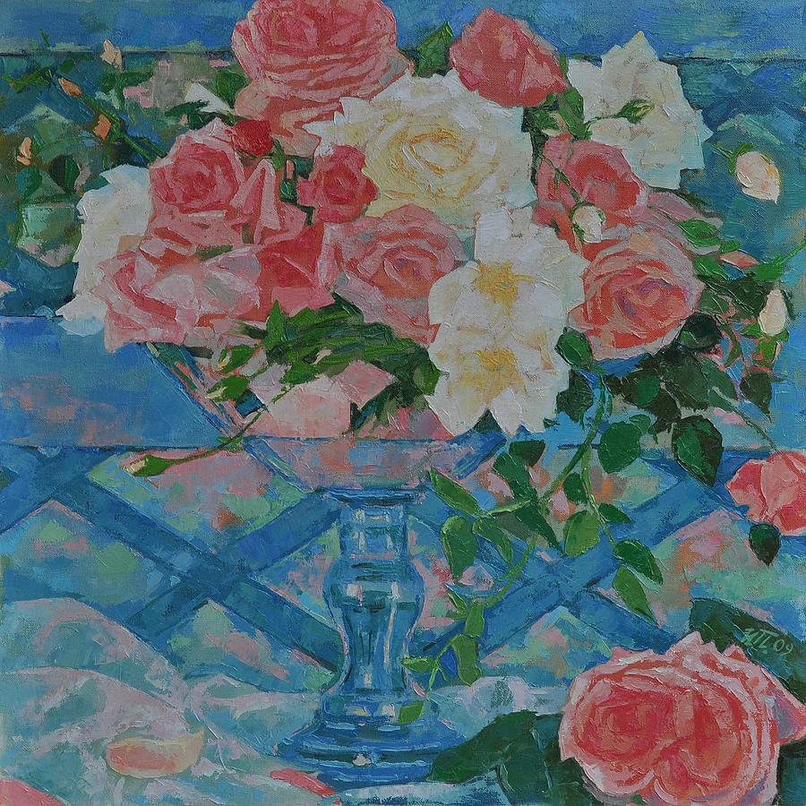Roses Painting - Roses by Iliyan Bozhanov