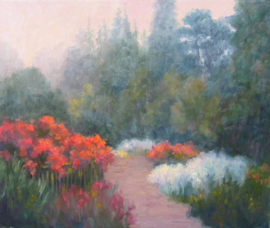 Roses Painting - Roses In The Mist by Bunny Oliver