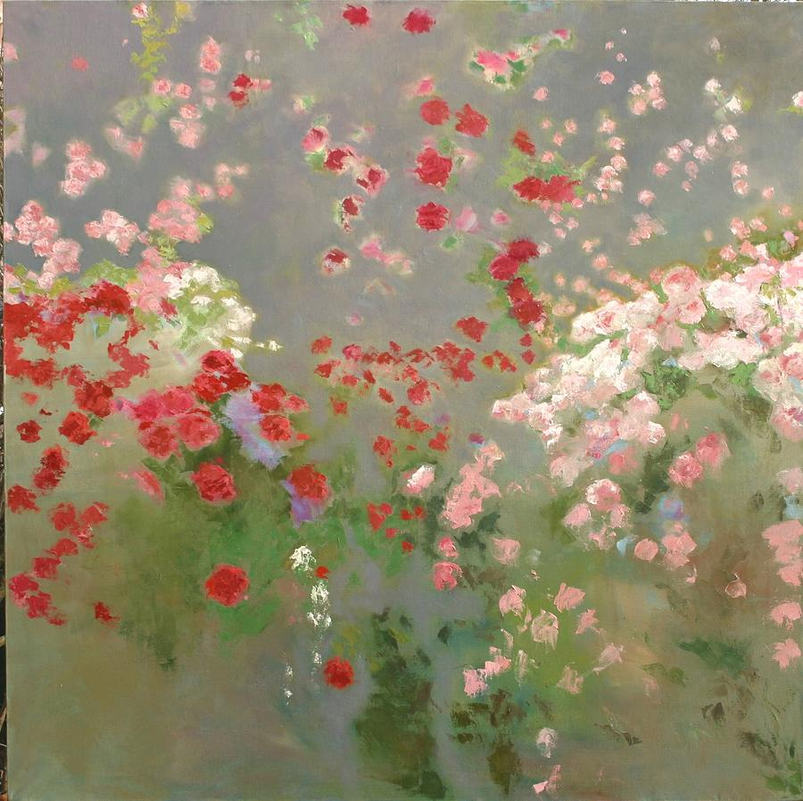 Landscape Painting - Roses by Krystyna Suchwallo