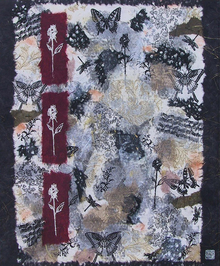 Collage Mixed Media - Roses by Michele Caporaso