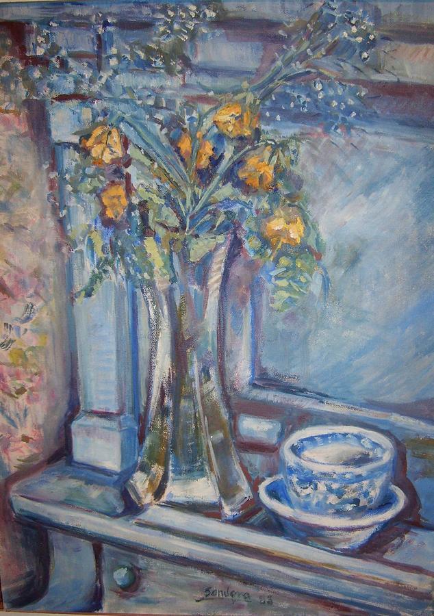 Roses On Piano Painting by Joseph Sandora Jr