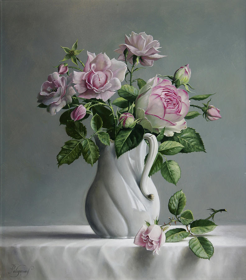 Painting - Roses by Pieter Wagemans